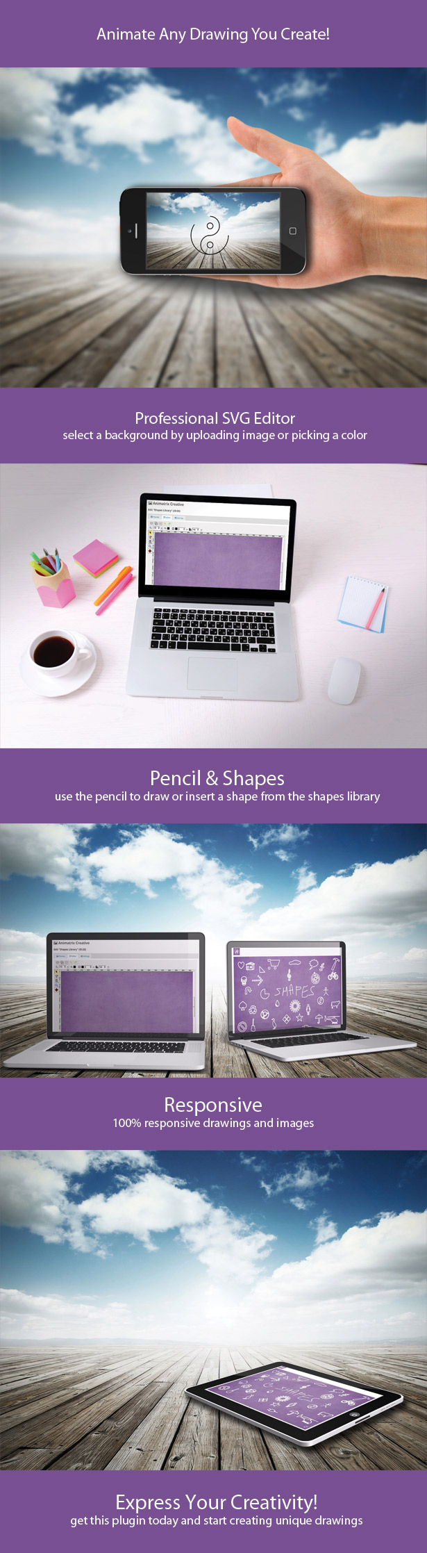 Animatrix Creative - Drawing SVG Animations Plugin
